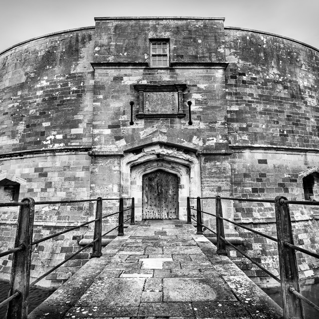 """""""Calshot Castle Walkway"""" stock image"""
