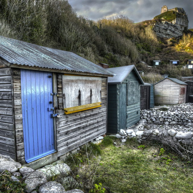 """Abandoned Huts"" stock image"