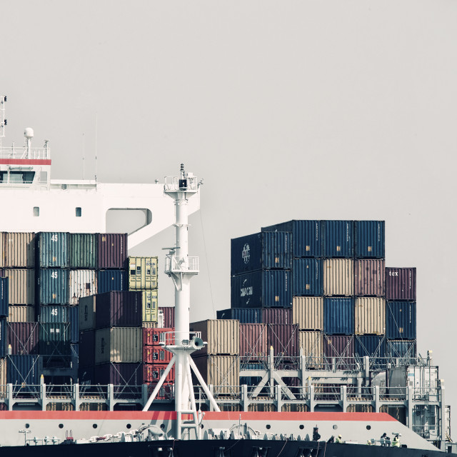 """CONTAINERSHIP"" stock image"