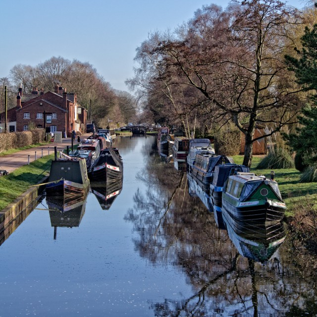 """Fradley Junction Canal"" stock image"