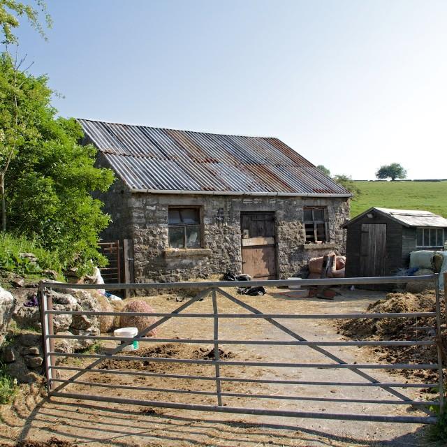 """Farm outhouse"" stock image"