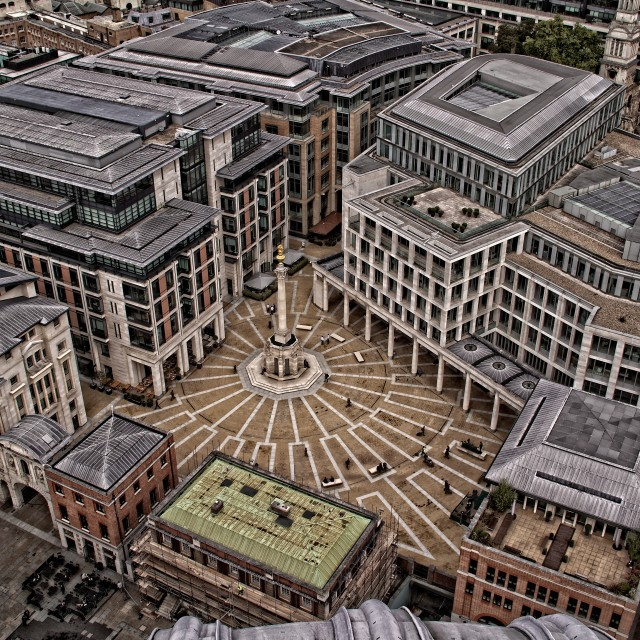 """""""London from above"""" stock image"""