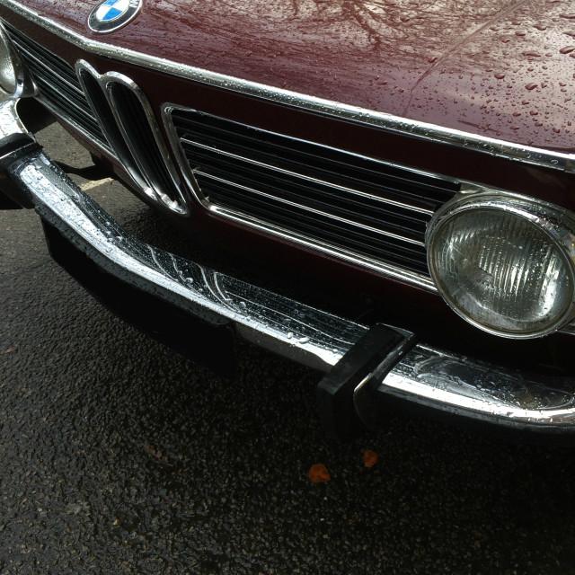 """Vintage car in the rain"" stock image"