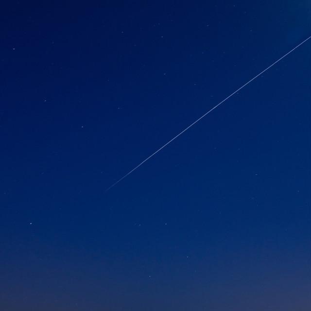 """ISS Meets Stonehenge"" stock image"