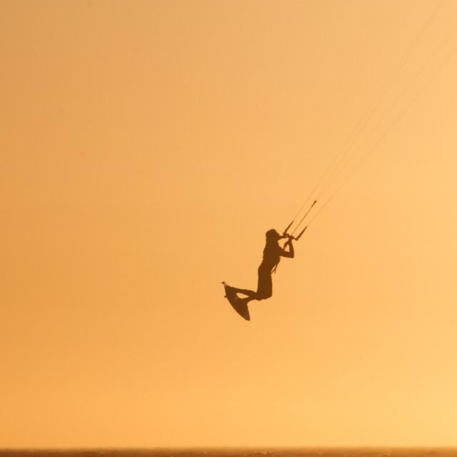 """""""KiteSurfer's Heaven"""" stock image"""