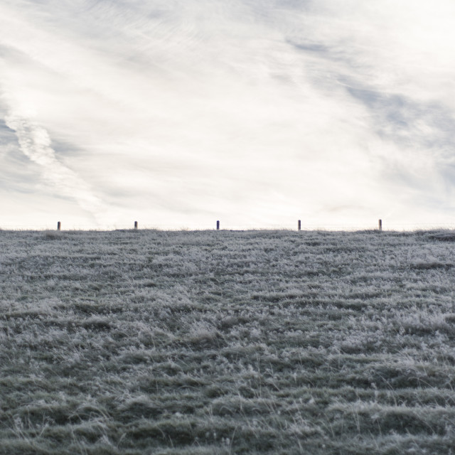 """Frosty horizon"" stock image"