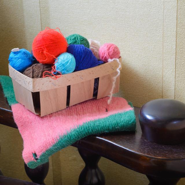 """Balls of Wool"" stock image"