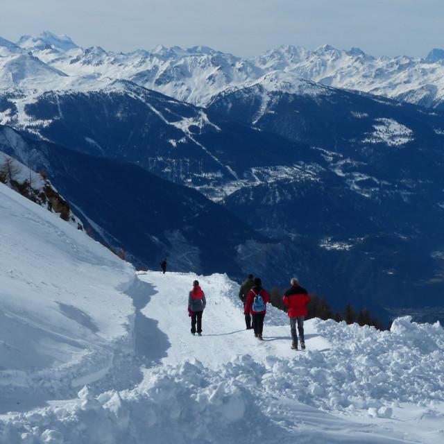 """alpine stroll"" stock image"