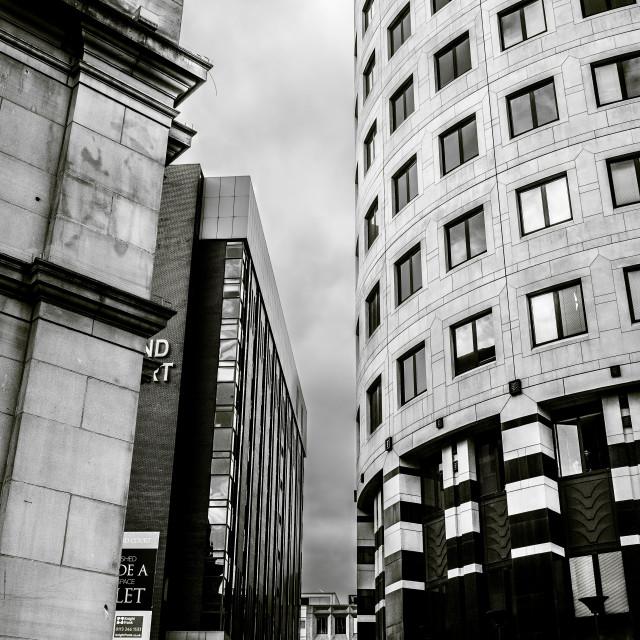 """Leeds City Centre"" stock image"