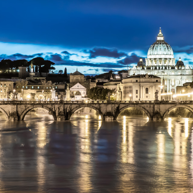 """St Peter's Basilica - Early evening"" stock image"
