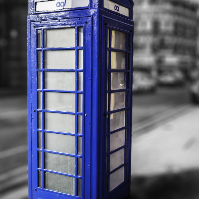 """Blue phone box"" stock image"
