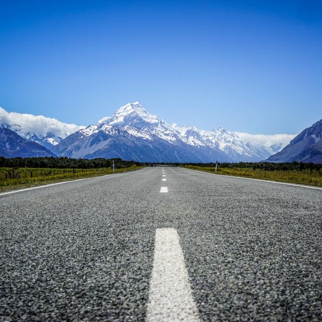 """Mount Cook Road - NZ"" stock image"