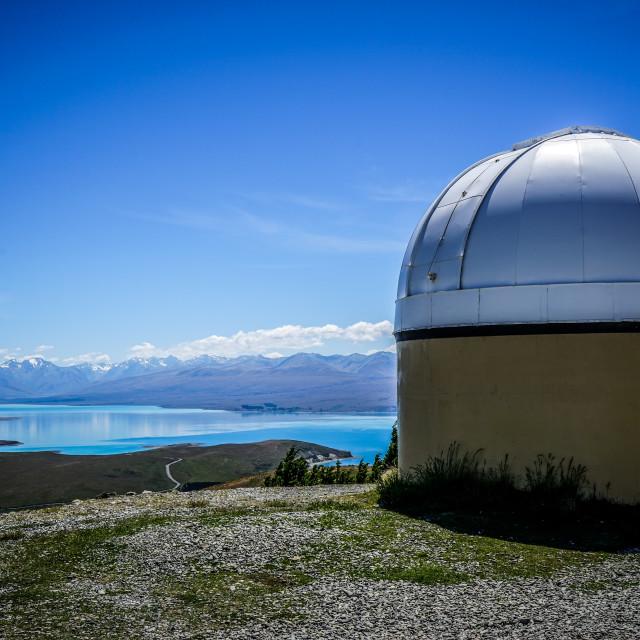 """Mt John Observatory - NZ"" stock image"