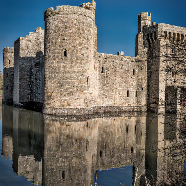 """Castle walls and moat"" stock image"