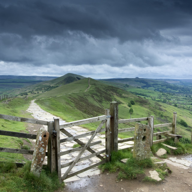 """Mam Tor Stormy Morning"" stock image"