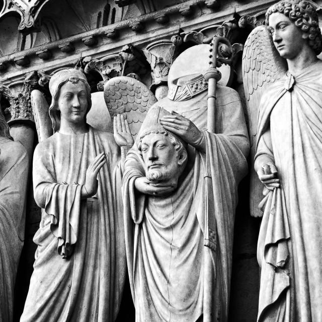 """""""Cathédrale Notre Dame de Paris"""" stock image"""