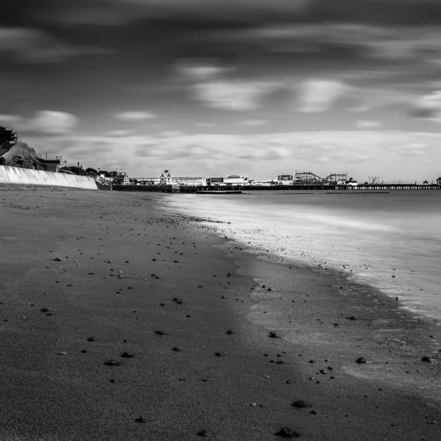 """Clacton Beach in Monotone"" stock image"