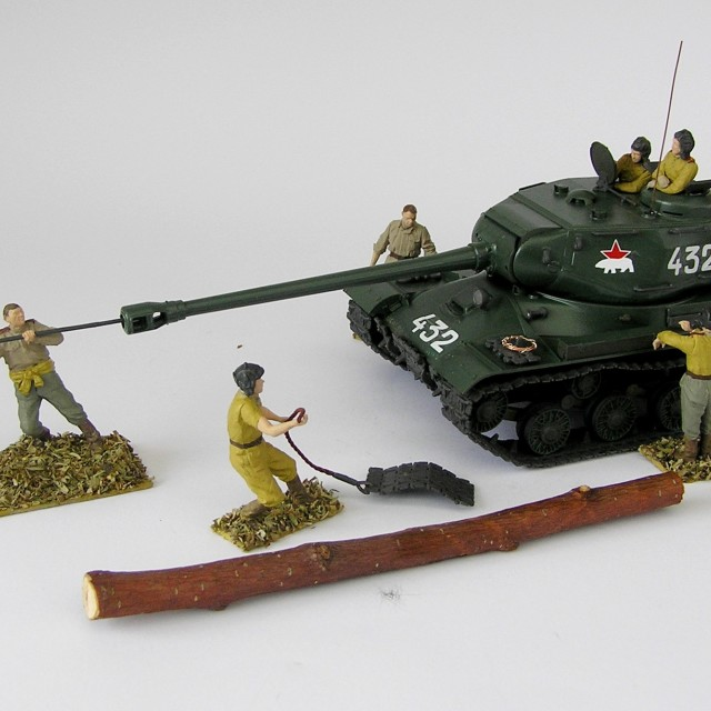 """Model of tanks and soldiers (the Russian front)"" stock image"