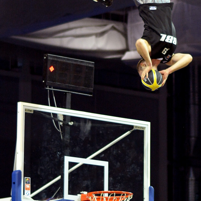 """Flying Basketball Dunker"" stock image"