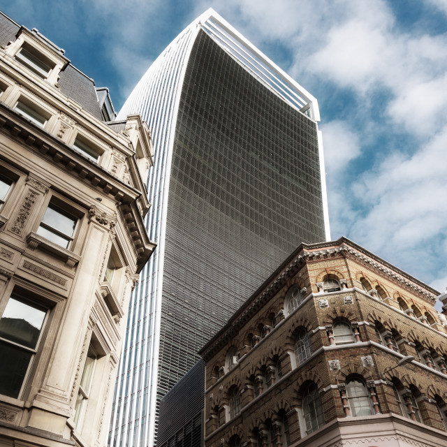 """""""The Walkie Talkie Building"""" stock image"""