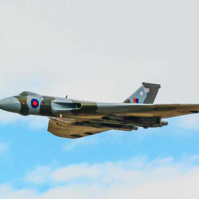 """Avro Vulcan XH558"" stock image"