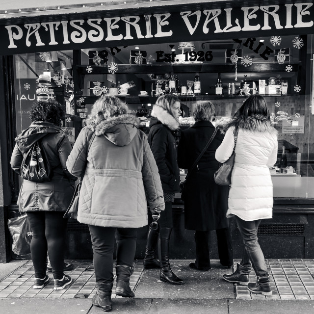 """Glasgow Pastry Shop"" stock image"