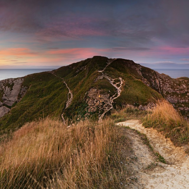 """Man o war v's Durdle Door"" stock image"