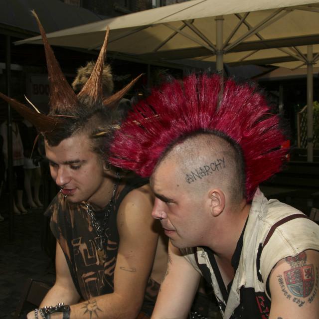 """""""Punks not dead II"""" stock image"""