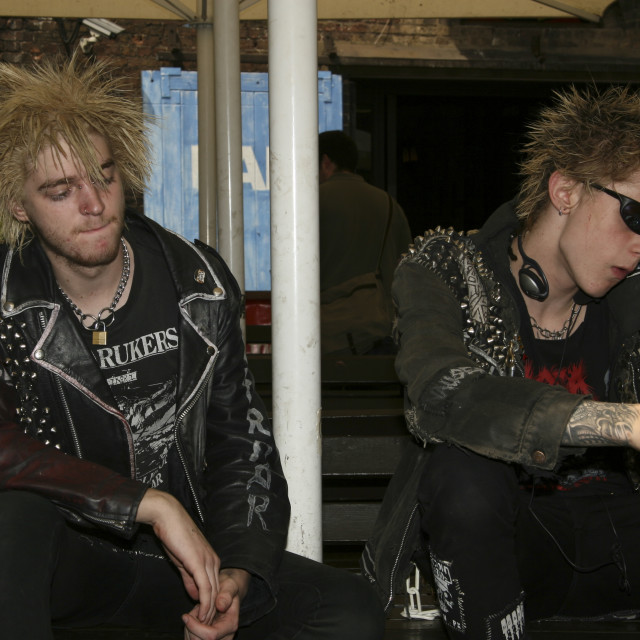 """""""Punks not dead IV"""" stock image"""