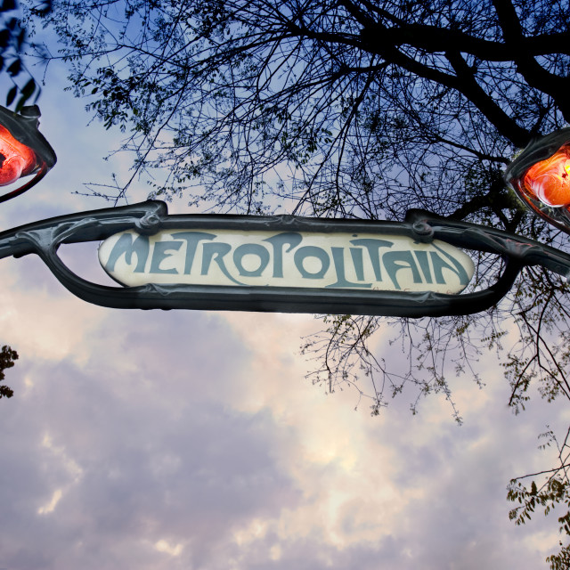 """PARIS METROPOLITAIN"" stock image"