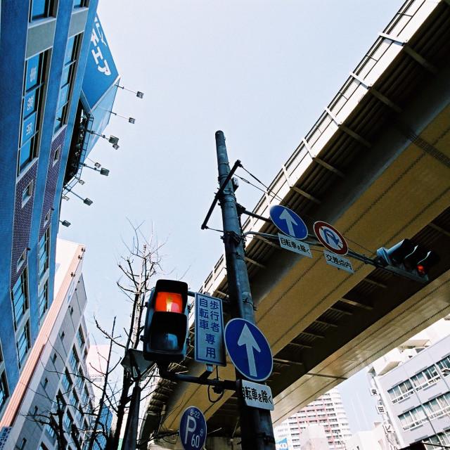 """Osaka Traffic Light"" stock image"