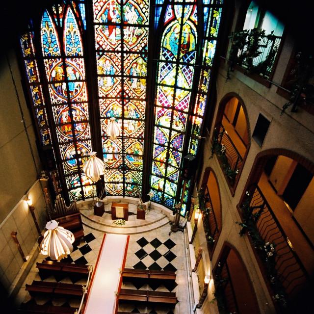 """Japanese Wedding Chapel"" stock image"