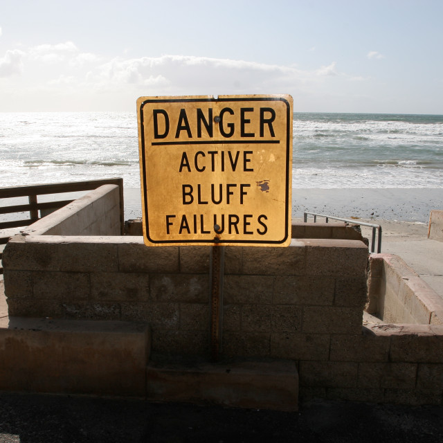 """""""Active Bluff Failures"""" stock image"""