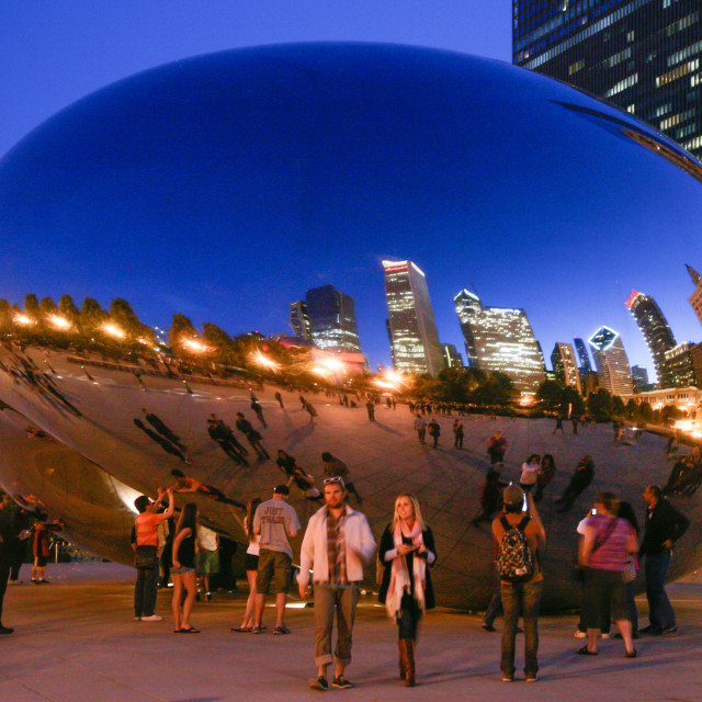 """""""The Bean"""" stock image"""