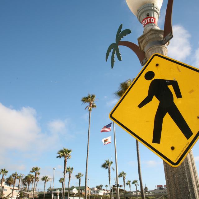 """Crosswalk Sign"" stock image"