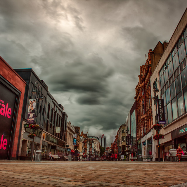 """Leeds City Centre"" stock image"