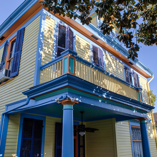 """Colorful New Orleans House"" stock image"