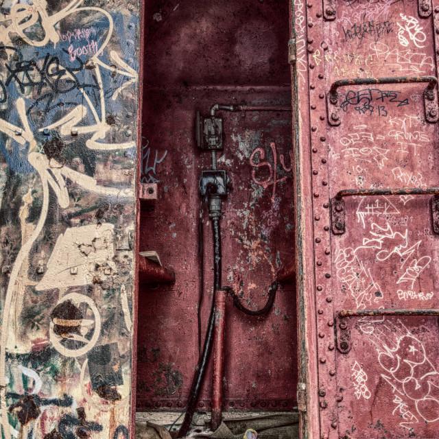 """""""Metal Graffiti Building"""" stock image"""