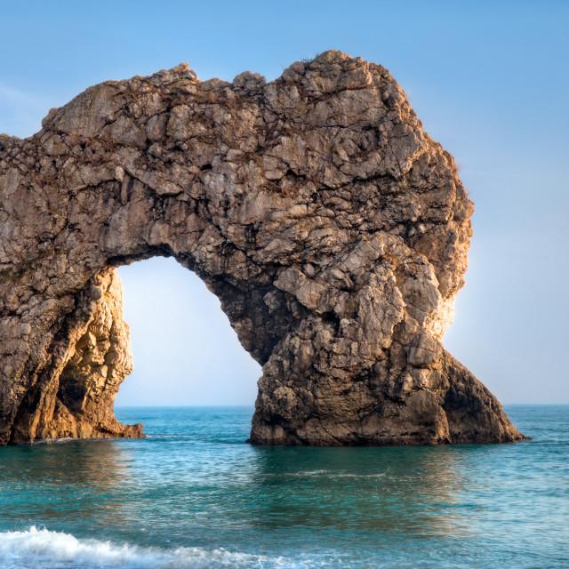 """""""Durdle Door arch, in Dorset, UK"""" stock image"""