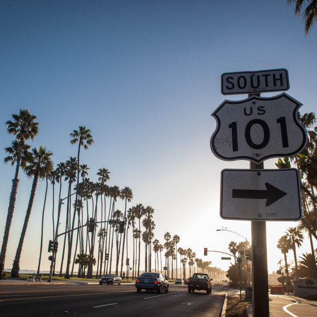 """Route 101"" stock image"