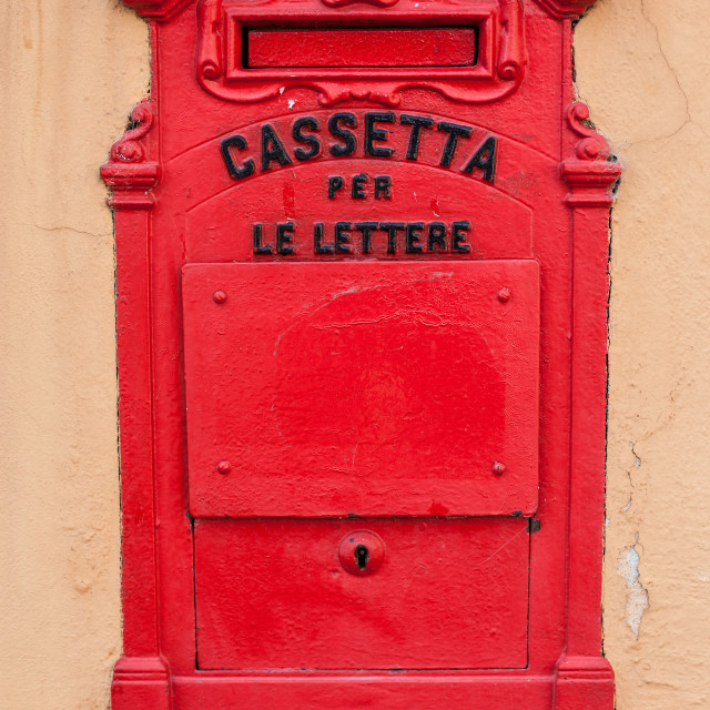 """Italian Mailbox"" stock image"