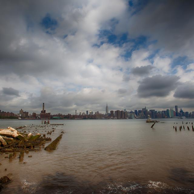 """Big Sky Over Manhattan"" stock image"
