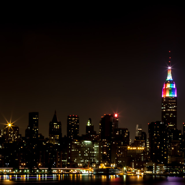 """""""Empire State Rainbow Colors"""" stock image"""
