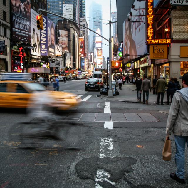 """Manhattan Street Scene"" stock image"
