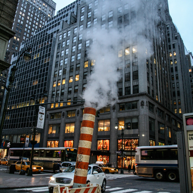 """Manhattan Steam Pipe"" stock image"