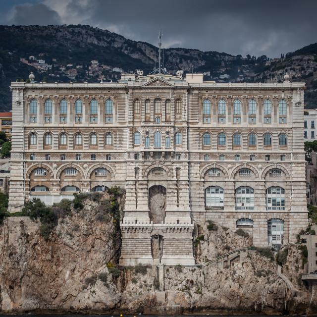 """""""Musée Océanographique, Monaco"""" stock image"""