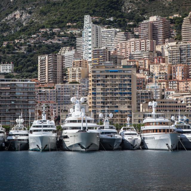 """Monte Carlo Marina"" stock image"