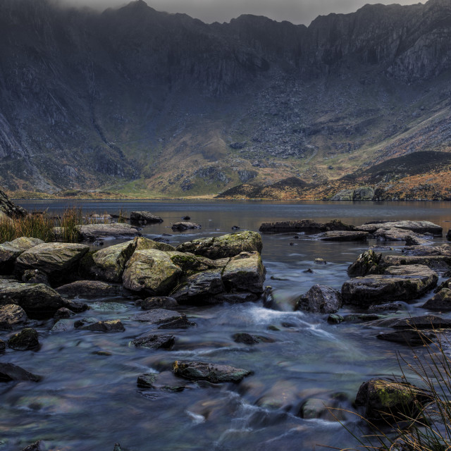 """Devils kitchen Snowdonia."" stock image"