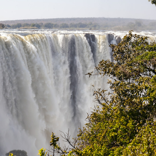 """""""Victoria falls - Main Falls"""" stock image"""