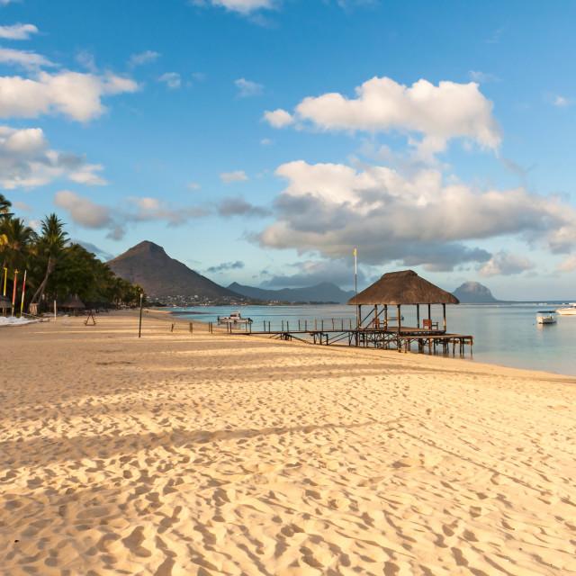 """Beach on the West Coast of Mauritius"" stock image"